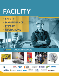 Facility Products Catalog Cover